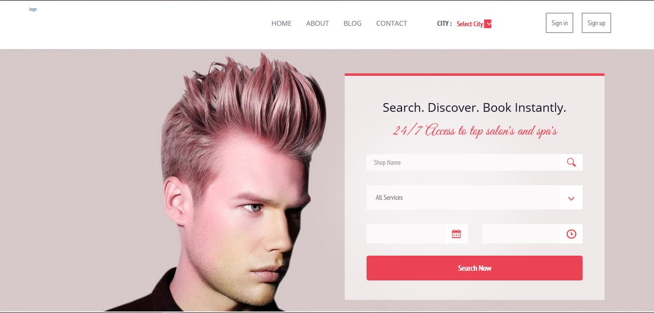 Saloon Booking - Buy Ready Website.