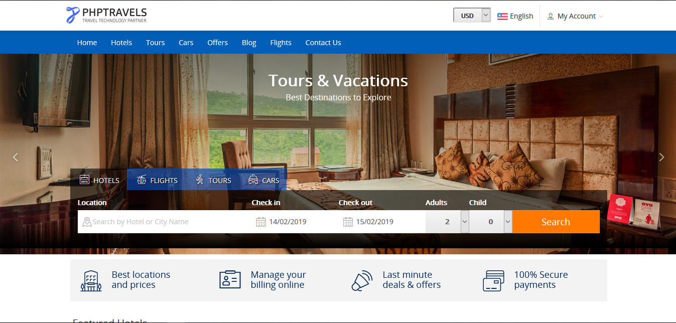 Tours and Travels Portal - Buy Ready Website.
